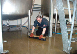 cleanliness in the brewery